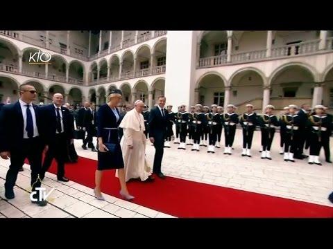 Le pape François rencontre les autorités de Pologne