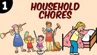 Learn Household Chores For Kids | Part 1 | Learning Videos & Educational Videos For Kids