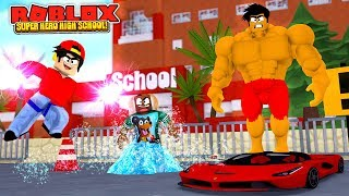 ROBLOX SUPER HERO HIGH SCHOOL - DONUT & ROPO GET NEW SUPER HERO POWERS NEVER BEEN SSEEN BEFORE!!