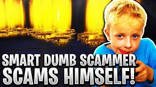 Smart Dumb Scammer Scams Himself! (Scammer Gets Scammed) Fortnite Save The World