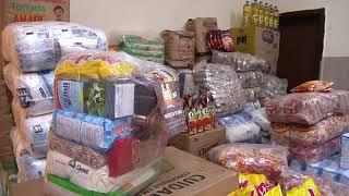 Patos Já - Entidade que presta assistência a famílias carentes recebe doação de mais de três toneladas de alimentos