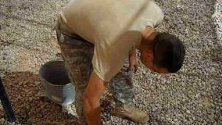 preview picture of video 'Soldier shoots himself with a bottle of water!'