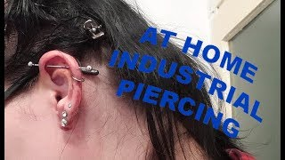 At Home Industrial Piercing DIY | Contains A FAIL |