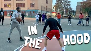 King Of The Court Basketball In The HOOD!