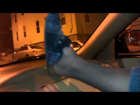 Stocking feet and toes playing on the