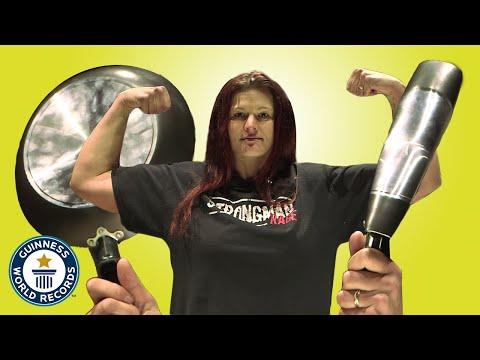 German Strongwoman Crushing Frying Pans
