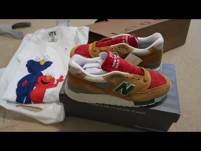 85b43f8a95012 J.Crew x New Balance 998 'Mustard,Ketchup,Relish' Sneaker Unboxing + Uniqlo  Kaws Tee 03:07 584