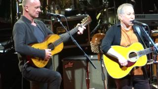 Paul Simon and Sting sing Phil Everly =] When Will I be Loved [= Feb 8 2014 - Houston, Tx