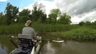 Bowfishing Pistol CrossBow in Kayak !