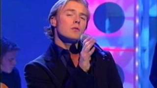Boyzone - Ronan presenting the Lottery and the lads sing All That I Need