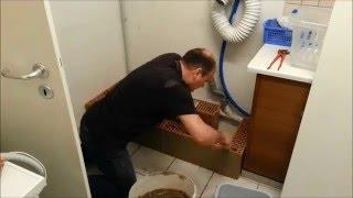 Ein Sockel, Podest  für eine Waschmaschine und einen Trockner Teil1