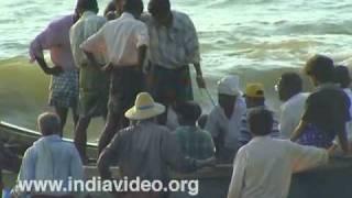 Catch laden boat at Nattika beach