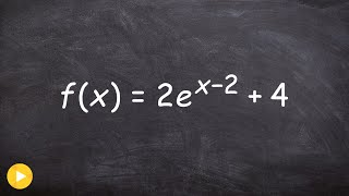 Graphing An Exponential Function With E As The Base