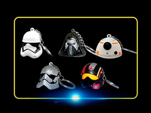 Colección Completa Llaveros Star Wars de Cinepolis