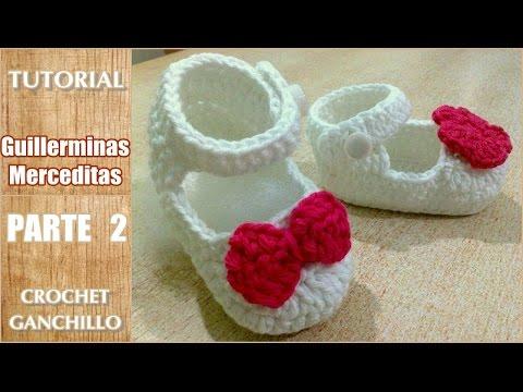 c6b482ba7 Tutorial como tejer zapatitos de bebe con gancho o crochet. Sandalias