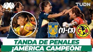 ¡La tanda de penales que le dio el título al América!  | Tigres vs América Final AP 18 | TUDN