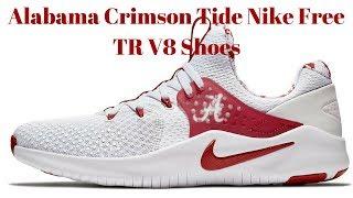 23eb59cb53e4b Review Of Alabama Crimson Tide Mens Nike Tr V8 Shoes White Crimson Roll Tide