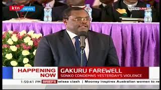 Senate Speaker Kenneth Lusaka eulogizes the late Wahome