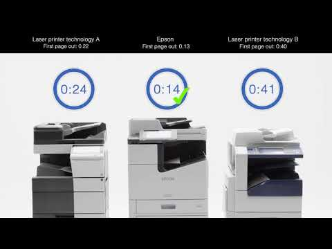 WorkForce Enterprise WF-C20590: Duplex Printing Speed Comparison