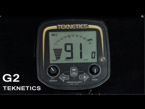 Detector de metales Tecknetics G2 en español