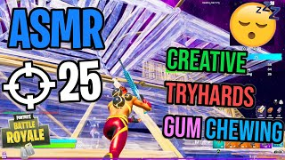 ASMR Gaming 😴 Fortnite Creative Tryhards 1v1 Relaxing Gum Chewing 🎧🎮 Controller Sounds + Whispering💤