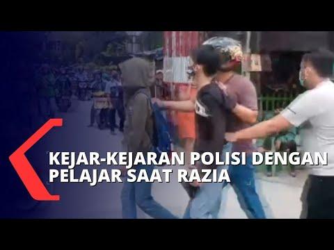 diduga akan ikut demo pelajar mencoba kabur saat terjaring razia polisi
