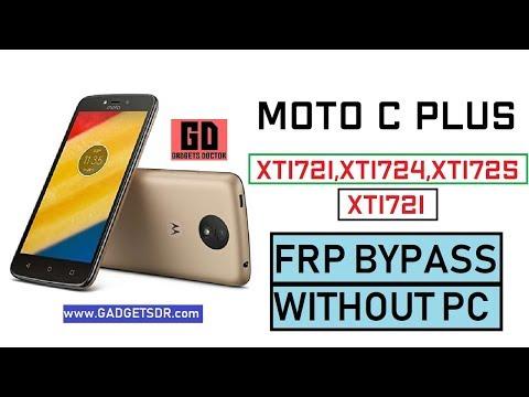 XT1721 Moto C Plus Frp - смотреть онлайн на Hah Life