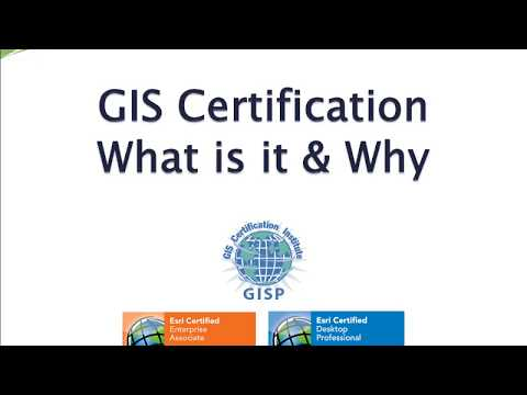 GIS Certification What is it and Why - YouTube