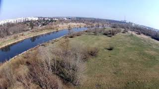 FPV drone freestyle - my favorite spot: Poznań Warta