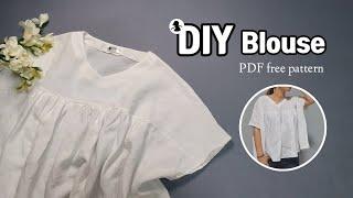 린넨 블라우스만들기 / 여름을 부탁해 린넨 / DIY Blouse PDF Free Pattern