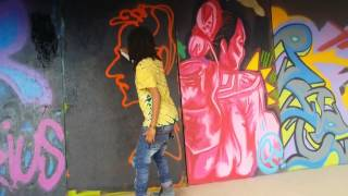 Lij Yared Showing His Graffiti Skills 2014