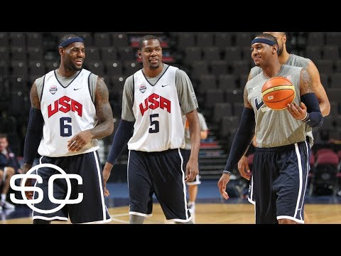 LeBron James Plays In Pickup Game With Kevin Durant And Carmelo Anthony | SportsCenter | ESPN