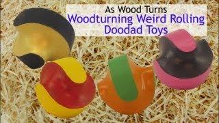 Woodturning Weird Rolling Doodad Toys (Streptohedron)