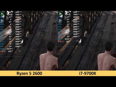 Ryzen 7 2700X vs i7-9700K - 2160p 4K Benchmark Test Comparison