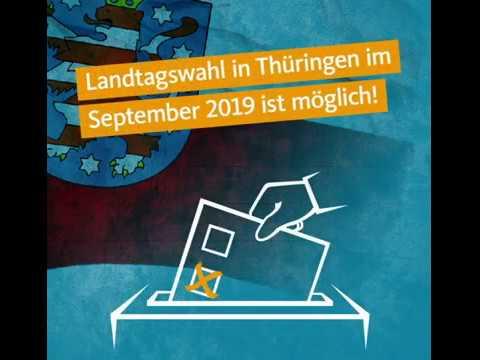 Landtagswahl in Thüringen im September 2019 ist möglich!