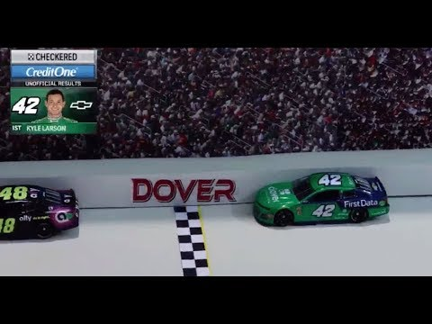 NASCAR Stop Motion: Larson's huge win on a 1:64 scale