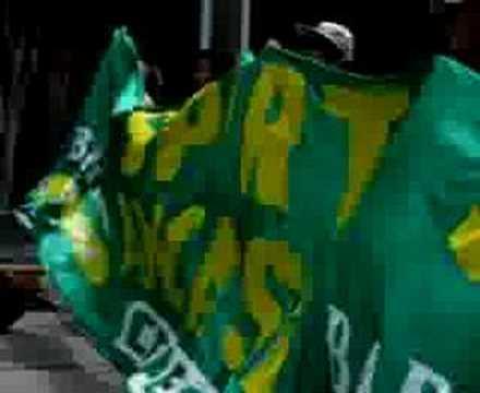 """hinchas del Sport Ancash"" Barra: Amenaza Verde • Club: Sport Áncash"
