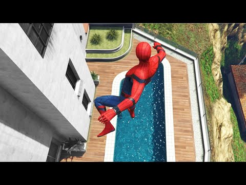 GTA 5 Crazy Water Ragdolls | Spiderman ep.45 (Funny Moments)