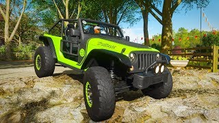 JEEP TRAILCAT 4X4 Offroad | El Titan Cross Country Carrera Larga | Forza Horizon 4