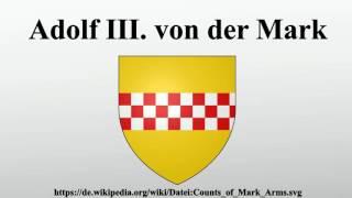 Adolf III. von der Mark