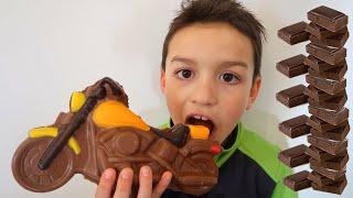 Liam and Chocolate Motorbike Story Kids Video