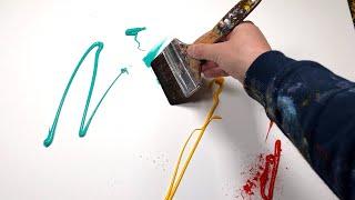 Peinture Abstraite Démonstration à l