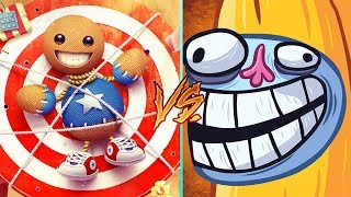 Troll Face Quest Video Memes Vs Kick The Buddy - All Levels MEGA Weapons Funny Gameplay