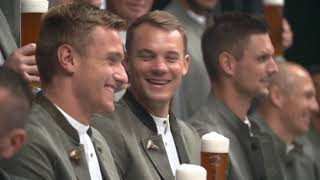 Lederhosen-Shooting beim FC Bayern München