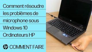 Comment résoudre les problèmes de microphone sous Windows 10 | Ordinateurs HP | HP