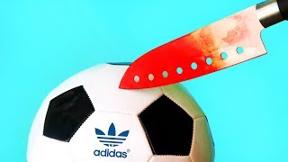 EXPERIMENT Glowing 1000 degree KNIFE  VS ADIDAS BALL