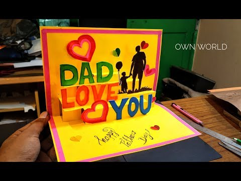 Beautiful Father's Day Greeting Card Idea | DIY POP-UP card | Father's Day card!