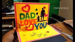 Beautiful Birthday Greeting Card Idea | DIY Birthday POP-UP card |father's day card