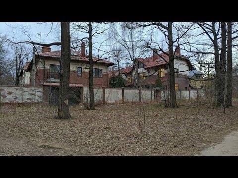 Лес и особняки в Москве