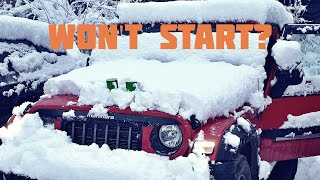 Trying To Start 2020 Diesel Thar After Overnight Snowfall